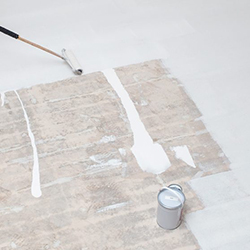 White Epoxy Floor Coating in a Photography Studio - Time Lapse!