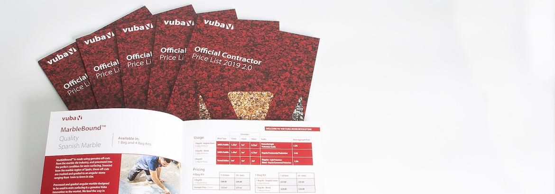 Vuba Contractor Price List