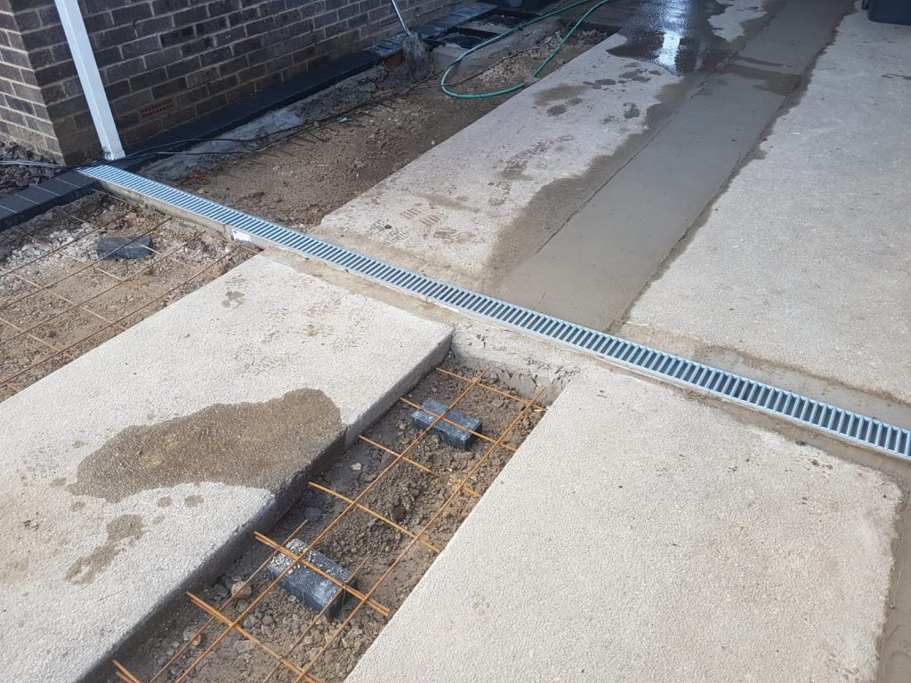 Concrete Base Being in Filled with Concrete